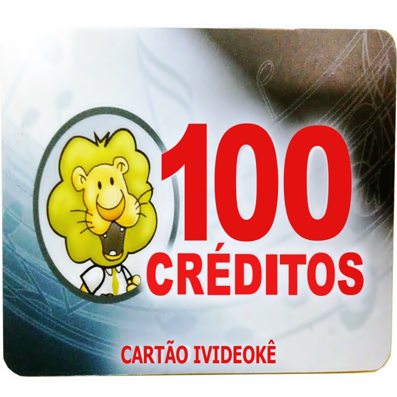 Imagem do produto Cartão Pré-Pago 100 créditos Para Ivideokê Mini 8162/Pop200/Pop 300/Pro 750/Pro 950/Pro 850