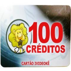 imagem Cartão Pré-Pago 100 créditos Para Ivideokê Mini 8162/Pop200/Pop 300/Pro 750/Pro 950/Pro 850